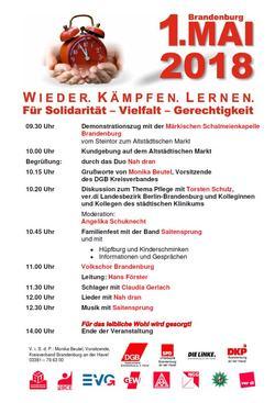 Maiplakat Brandnburg 2018