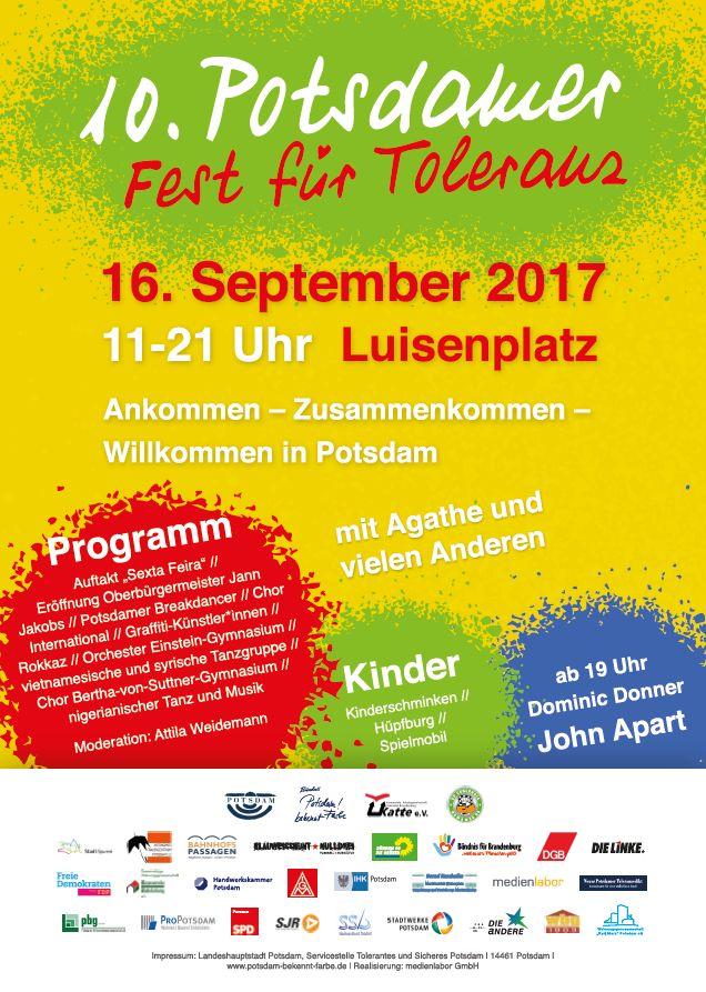 Plakat 10.Potsdamer Toleranzfest