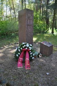 Gedenkstein für ermordete Gewerkschafter im KZ Sachsenhausen