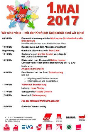 Mai-Plakat Stadt Brandenburg a d H