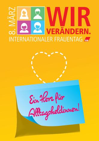 Flyer Vorderansicht Internationaler Frauentag 2019