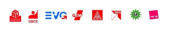 DGB-Gewerkschaften mit Logos