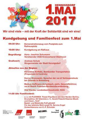 Mai-Plakat Hennigsdorf