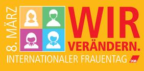 Logo des DGB für den Internationalen Frauentag
