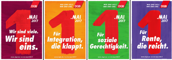 Maiplakat 2017 Für Integration