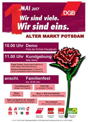 Mai-Plakat Potsdam 2017