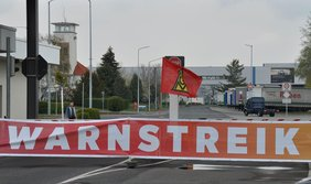 Warnstreik in Ludwigsfelde