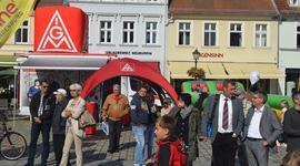 IG-Metall-Info-Truck auf Handwerkstag in Neuruppin
