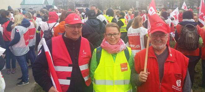 DGB unterstützt verdi in Neuruppin